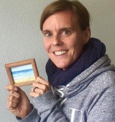 Mijn schilderijtje Haarlem rent voor Kenia